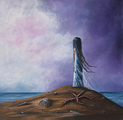 Cloudy Day Paintings - Sea Fairy by Shawna Erback by Shawna Erback