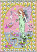 Decorating Mixed Media - Sea Fairy Maiden by Shore House Drygoods