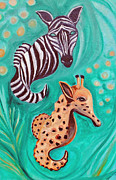 Zebra Paintings - Sea-fari by Melanie Wadman