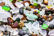 Beach Glass Framed Prints - Sea Glass Close Up Framed Print by Priya Ghose