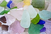 Beach Glass Posters - Sea Glass Poster by Colleen Kammerer