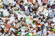 Glass Pebble Posters - Sea Glass Memories Poster by Priya Ghose