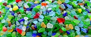 Mary Deal Photos - Sea Glass Mural by Mary Deal