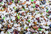 Glass Pebble Posters - Sea Glass Treasures At Glass Beach Poster by Priya Ghose