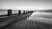 Fife Framed Prints - Sea groynes Portobello Framed Print by John Farnan
