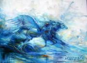 Sea Horses Print by Heather Calderon