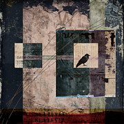 Crow Collage Posters - Sea Level Poster by Carol Leigh