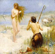 Nude Girl Digital Art - Sea Maidin by Arthur Hacker