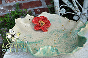 Ceramic Bowl Ceramics Posters - Sea N Red Poster by Amanda  Sanford