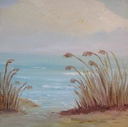 Cloudy Day Paintings - Sea Oats Serenade by Nancy Craig