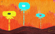 Singing Digital Art Originals - sea of Balloon-flowers by Coman Alex