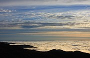 Pisgah Photographs Posters - Sea of Clouds Pisgah Ledge Poster by Michael Weeks