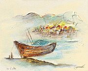Religious Art Paintings - Sea of Galilee by Arnold Goldberg