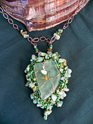 Beach Jewelry Originals - Sea of Green Necklace by Robin Aitken Hardy