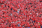 Ncaa Prints - Sea of Red Print by Allen Beatty