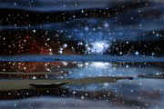 Canoe Digital Art - Sea of Stars v2 by Gregory Smith