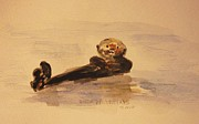 Otters Originals - Sea Otter by Andrea Flint Lapins