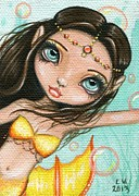 Mermaid Art Paintings - Sea Princess Marisol by Elaina  Wagner