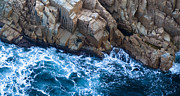 Line Prints - Sea Rocks Print by Frank Tschakert