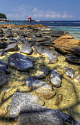 Mario Legaspi Metal Prints - Sea Rocks Metal Print by Mario Legaspi