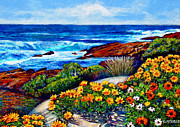 Impressionistic Landscape Painting Framed Prints - Sea Side Spring Framed Print by Michael Durst
