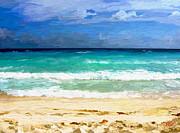 Sea Sky Sand Print by James Shepherd