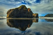 Reflections In River Art - Sea Stack Swirls by Adam Jewell