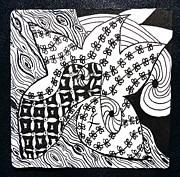 Tangle Drawings - Sea Star by Beverley Harper Tinsley