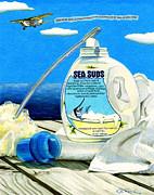 Sea Suds Print by Karen Rhodes