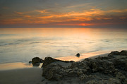 Mediterranean Landscape Prints - Sea sunset Print by Guido Montanes Castillo