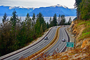 Sea To Sky Highway Framed Prints - Sea to Sky Framed Print by Ron Ritchey