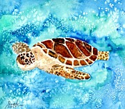 Sea Turtles Mixed Media - Sea Turtle by Derek Mccrea