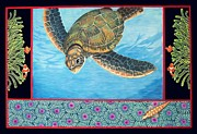 Sea Life Digital Art Originals - Sea Turtle by Mercilla Camacho