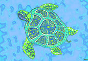 Sea Turtles Posters - Sea Turtle Too Poster by Nick Gustafson
