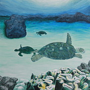 Sea Turtles Painting Originals - Sea Turtles by Krista Kulas