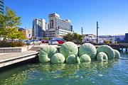 Public Art Prints - Sea Urchin Sculpture Wellington New Zealand Print by Colin and Linda McKie