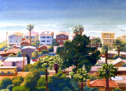 Homes Painting Prints - Sea View Del Mar Print by Mary Helmreich