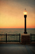 Lamp Post Prints - Sea View Print by Jill Battaglia