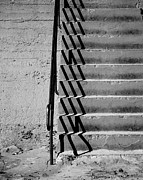 Sea Wall Prints - Sea Wall Steps Print by Perry Webster