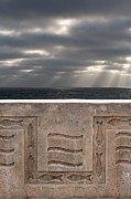 Sea Walls And Light Shafts Print by Peter Tellone