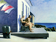 Couple On Vacation Framed Prints - Sea Watchers Framed Print by Edward Hopper