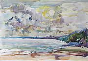 Azov Paintings - Sea water colour by Juliya Zhukova
