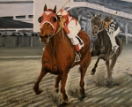 Racing Paintings - Seabiscuit vs. War Admiral - Match Race of the Century by Daniel Fishback