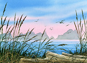 Landscape Greeting Card Painting Originals - Seacoast Beauty by James Williamson