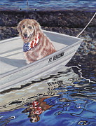 Patriotic Paintings - SeaDog by Danielle  Perry