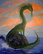 Dragon Painting Originals - Seadrake II by Harm  Plat