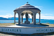 Seafarer Framed Prints - Seafarers Memorial on Homer Spit-AK Framed Print by Ruth Hager