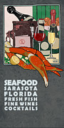 Wine Legs Framed Prints - Seafood Sarasota Framed Print by Jim Sanders