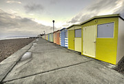Sheds Prints - Seaford Beach  Print by Rob Hawkins