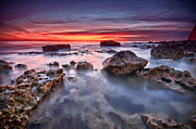 Seaford Photo Prints - Seaford rock pool Print by Mark Leader